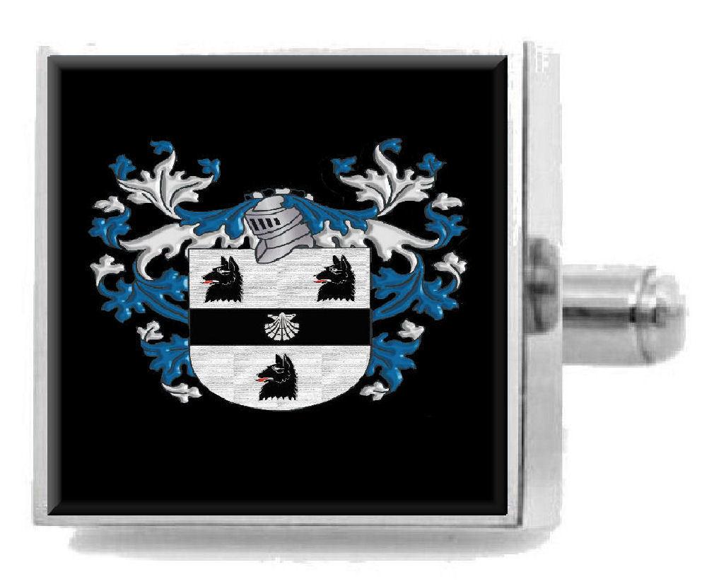 【送料無料】メンズアクセサリ― ハウイングランドアームカフリンクスパーソナライズケースコートhowe england family crest surname coat of arms cufflinks personalised case