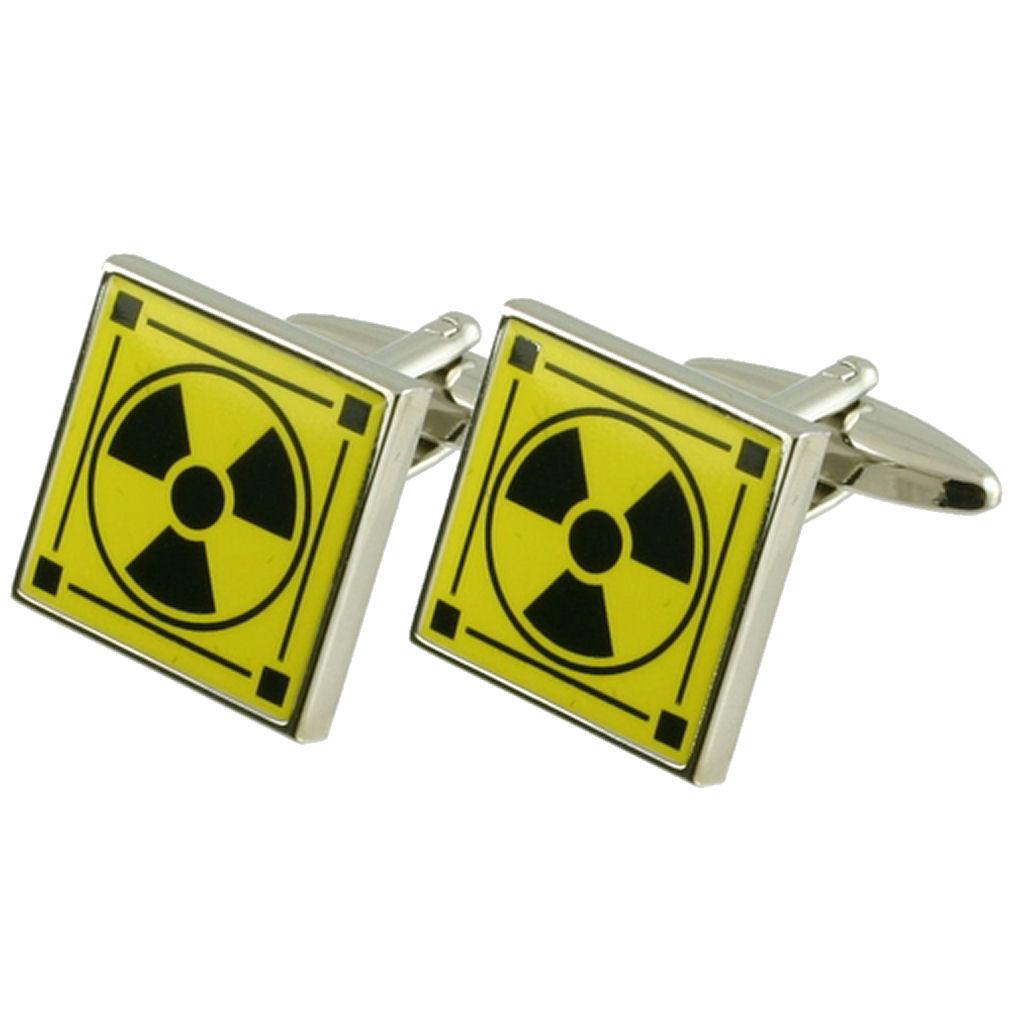 【送料無料】メンズアクセサリ― カフスボタンボックスオンradioactive cufflinks atomic energy nuclear engraved personalised box