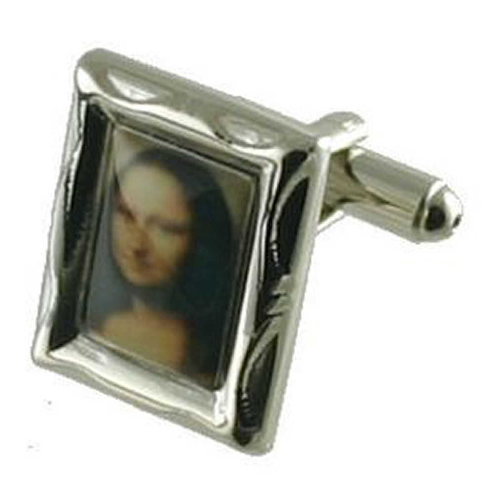 【送料無料】メンズアクセサリ― カフリンクスモナリザボックスオンcuff links mona lisa engraved personalised box