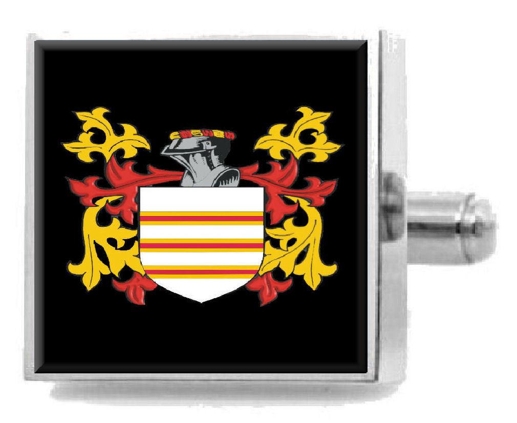 【送料無料】メンズアクセサリ― イギリスカフリンクスパーソナライズケースコートgasson england family crest surname coat of arms cufflinks personalised case
