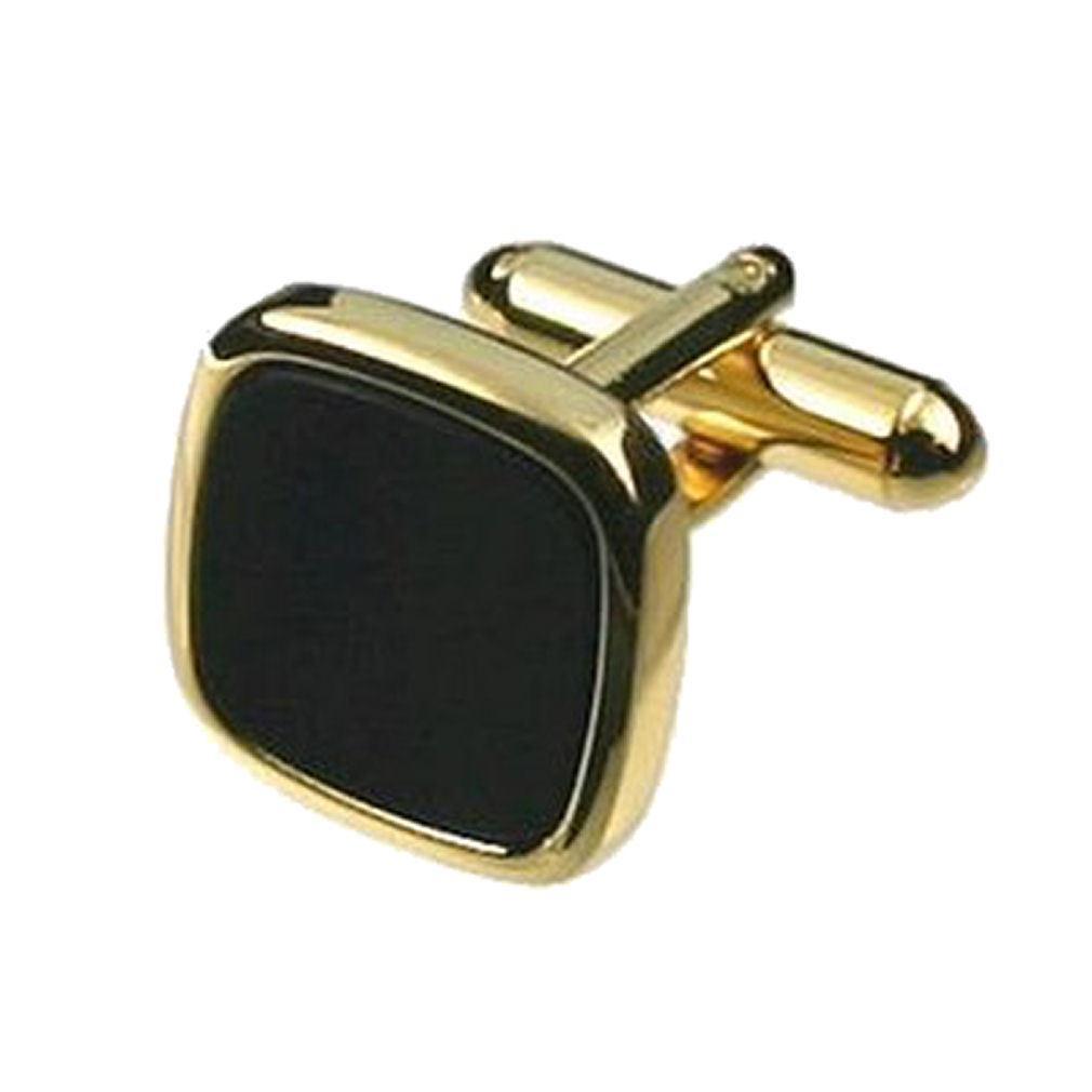 【送料無料】メンズアクセサリ― カフリンクスオニキスカフスボタンゴールドスクエアオニキスボックスオンcuff links onyx cufflinks gold square onyx engraved personalised box