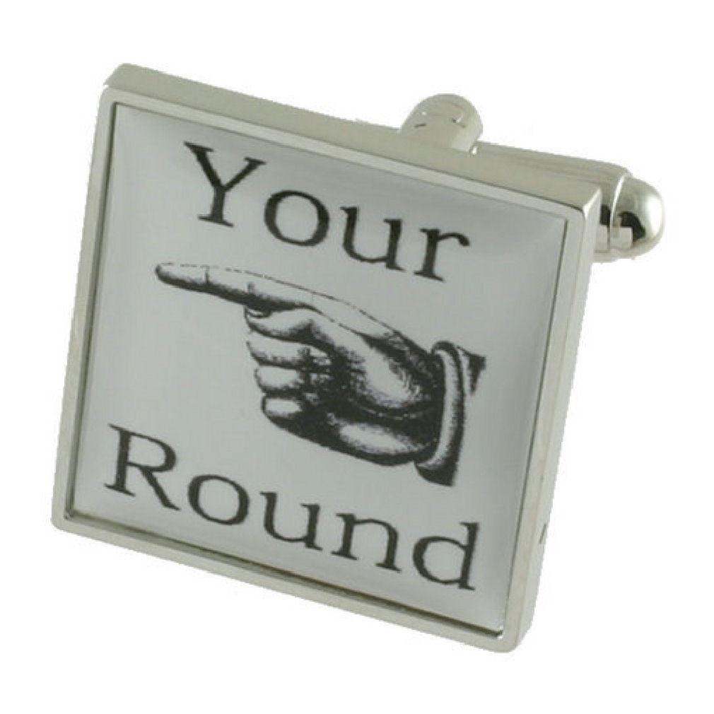【送料無料】メンズアクセサリ― カフリンクスラウンドボックスオンcuff links drinking novelty its your round engraved personalised box