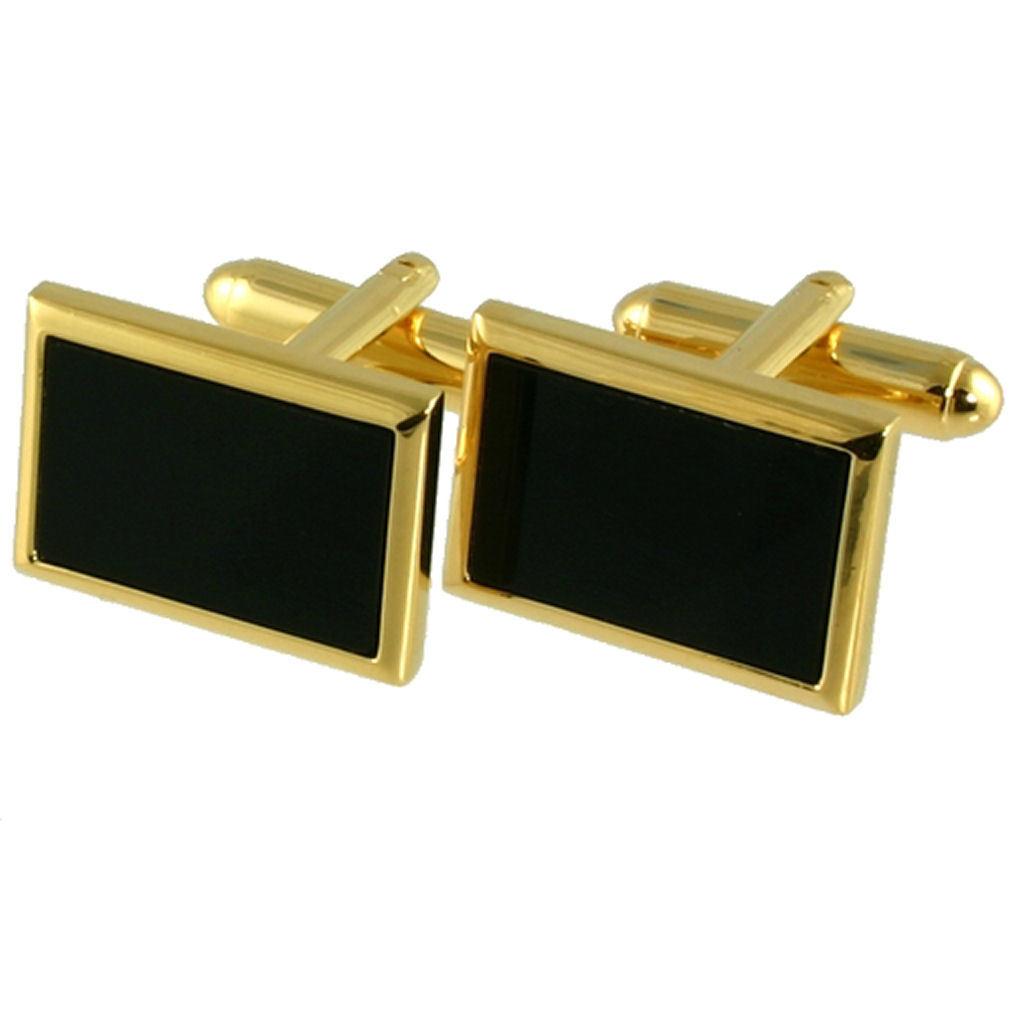 【送料無料】メンズアクセサリ― オニキスカフスボタンデザイナーカフスボタンボックスonyx rectangle cufflinks designer birthday cufflinks engraved box