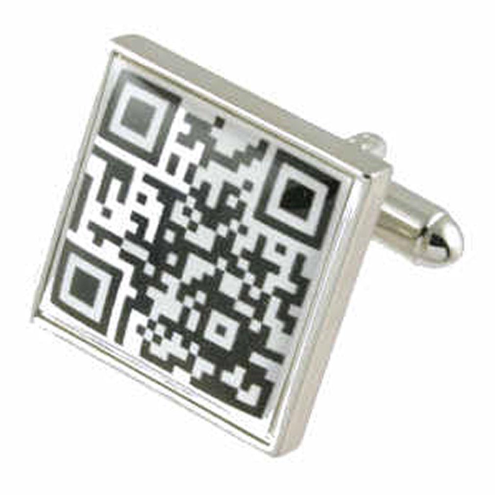 【送料無料】メンズアクセサリ― カフリンクスカフスボタンコードボックスオンcuff links qr cufflinks novelty code engraved personalised box