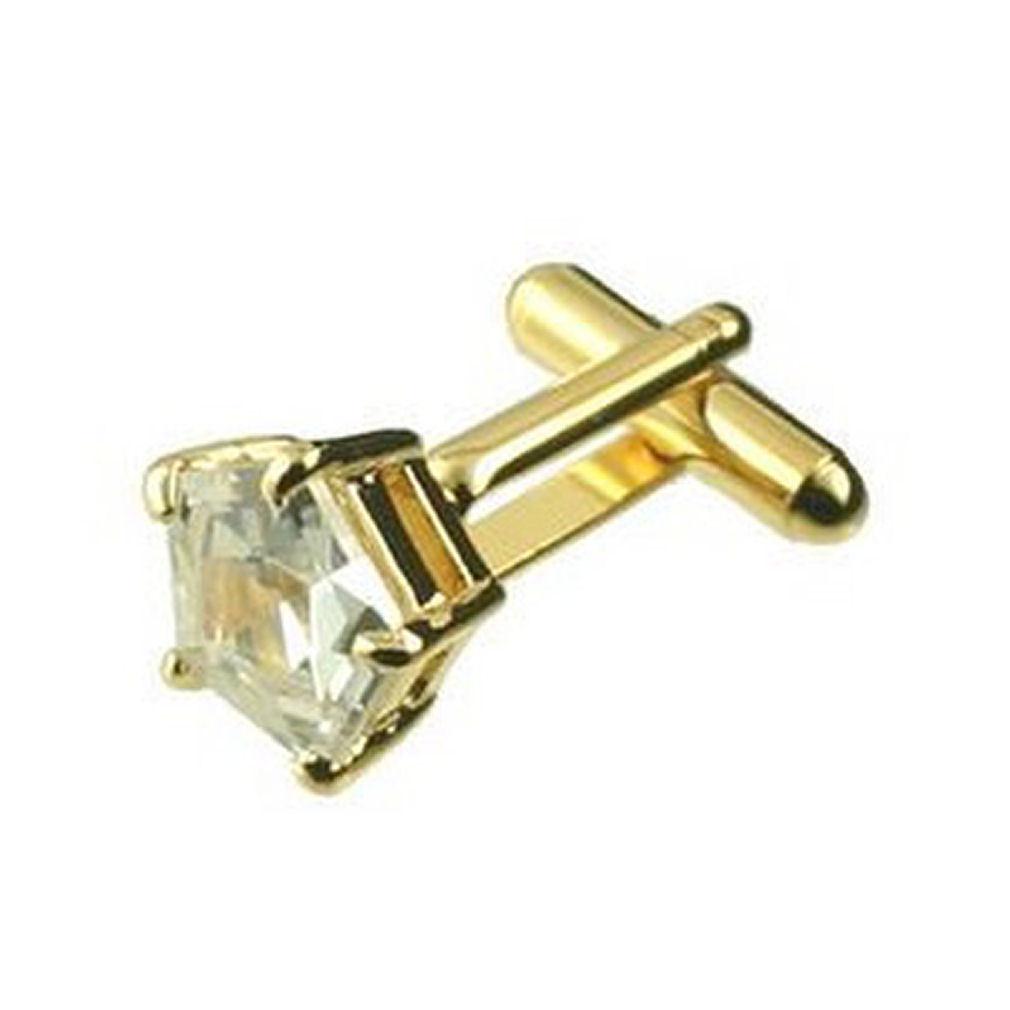 【送料無料】メンズアクセサリ― カフリンクスペンタゴンクリスタルカフスボタンゴールドクリアボックスcuff links pentagon clear crystal cufflinks gold engraved personalised box