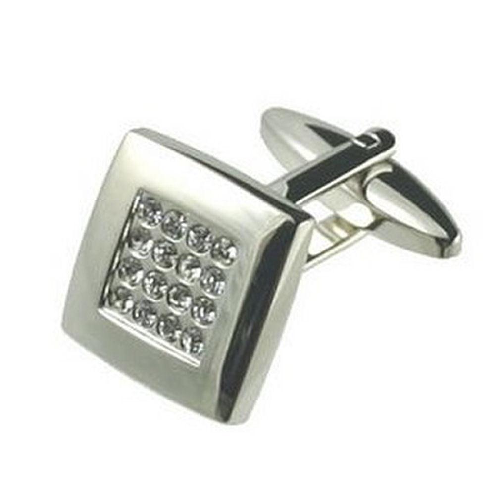 【送料無料】メンズアクセサリ― カフリンクスカフスボタンクリスタルホワイトクリスタルボックスオンcuff links crystal cufflinks white crystal engraved personalised box