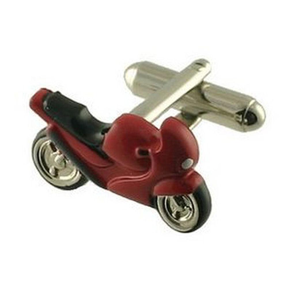 【送料無料】メンズアクセサリ― カフリンクスバイクカフスボタンスポーツバイクボックスオンcuff links motorbike cufflinks sports bike red engraved personalised box