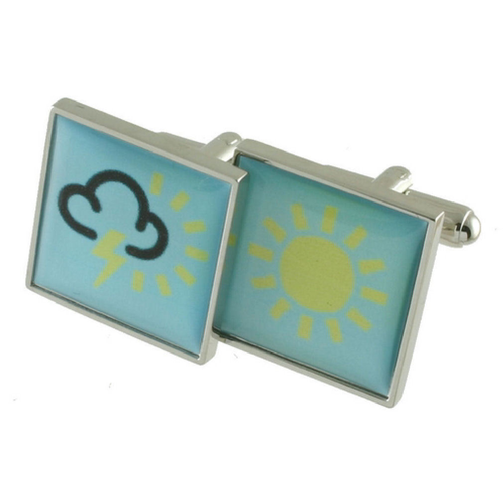 【送料無料】メンズアクセサリ― カフリンクサインインボックスcuff links weather sign engraved personalised box