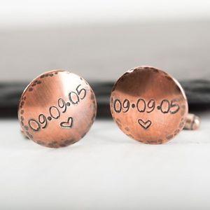 【送料無料】メンズアクセサリ― パーソナライズカフリンクスハンドメイドカフリンクスpersonalised cufflinks ~ copper handmade cufflinks ~ fathers day gift, best man