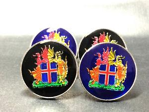 【送料無料】メンズアクセサリ― アイスランドコインカフリンクスiceland coin cufflinks