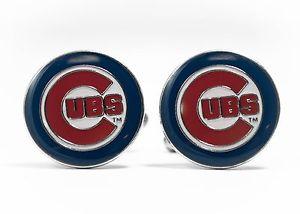 【送料無料】メンズアクセサリ― シカゴカブスカフリンクスリーグchicago cubs cufflinks mlb baseball