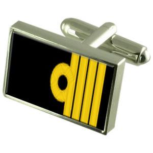 【送料無料】メンズアクセサリ― ロイヤルネイビーポーチランクキャプテンカフリンクスroyal navy insignia rank captain cufflinks with pouch