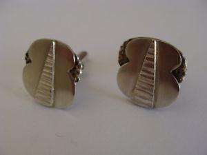 【送料無料】メンズアクセサリ― ビンテージソリッドシルバーデザイナーカフスボタンvintage solid silver hand made designer cufflinks