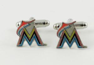 【送料無料】メンズアクセサリ― マイアミマーリンズカフリンクスリーグmiami marlins cufflinks mlb baseball