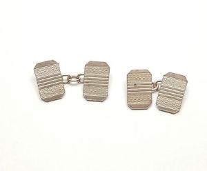【送料無料】メンズアクセサリ― アールデコデザインビンテージスターリングシルバーcufflinks art deco design vintage 925 sterling silver gents 86g