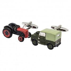 【送料無料】メンズアクセサリ― トターランドローバーカフリンクスtractor and land rover cufflinks