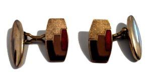【送料無料】メンズアクセサリ― ビンテージエナメルアートアールデコイギリスカフリンクスvintage enamel art deco 1930s 1940s cufflinks made in england by lambournes