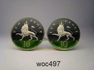 【送料無料】メンズアクセサリ― エナメルコインカフリンクスパターンペンスライオンbritish enamelled coin cufflinks 10 pence lion choice of pattern