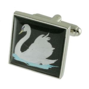 【送料無料】メンズアクセサリ― カフリンクススワンカフリンクスcuff links swan cufflinks select gift pouch
