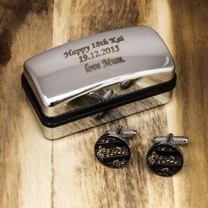 【送料無料】メンズアクセサリ― パーソナライズカフスボタンセットmusic personalised cufflinks gift set