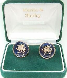 【送料無料】メンズアクセサリ― ウェールズドラゴンカフリンクスwales dragon 1 cufflinks made from real coins in blue amp; gold