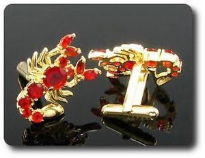 【送料無料】メンズアクセサリ― スコーピオンcufflinks scorpion gold plated yellow 18 k