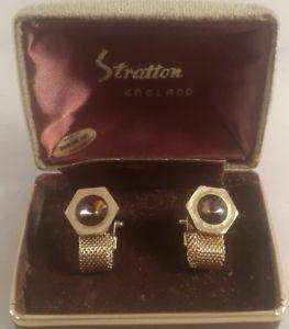 【送料無料】メンズアクセサリ― ヴィンテージストラットンカフリンクスビンテージカフスボタンイングランドvintage stratton cufflinks boxed vintage cufflinks stratton england