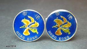 【送料無料】メンズアクセサリ― コインカフスボタンセントhong kong coin cufflinks 10 cents 17mm 1994 1995 1997 1998