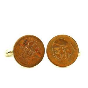 【送料無料】メンズアクセサリ― コインベルギーセントcufflinks coin authentic belgium 20 cents