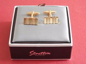 【送料無料】メンズアクセサリ― メッキカフスボタンボックスコストロンドンbnib stratton gold plated cufflinks gift box cost 75 london est 1860