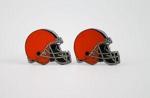 【送料無料】メンズアクセサリ― クリーブランドブラウンズカフスボタンフットボールcleveland browns cufflinks nfl football