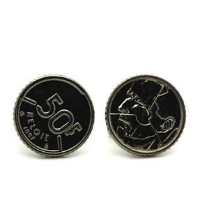 【送料無料】メンズアクセサリ― コインベルギーフランcufflinks coin authentic belgium 50 francs