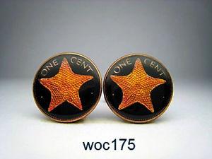 【送料無料】メンズアクセサリ― バハマエナメルコインセントシースターカフリンクスbahamas enamelled coin cufflinks cent sea star
