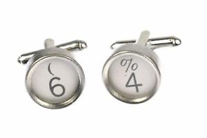 【送料無料】メンズアクセサリ― タイプライターキーminiblings6カフスリンクpersonalised number cuff links typewriter keys miniblings number white 6