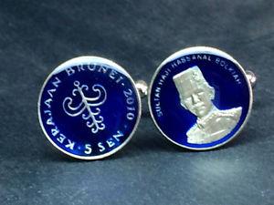 【送料無料】メンズアクセサリ― ブルネイカフスボタンbrunei coin cufflinks 15mm