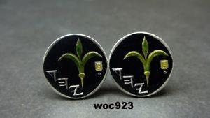 【送料無料】メンズアクセサリ― イスラエルエナメルコインカフスボタンisrael enamelled coin cufflinks 18mm