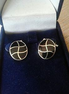【送料無料】メンズアクセサリ― スターリングシルバーカフリンクスsterling silver cufflinks