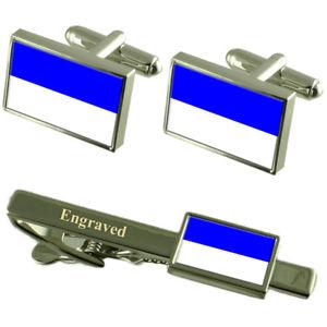 【送料無料】メンズアクセサリ― ボーフムドイツフラグカフスリンクネクタイピンセットbochum city germany flag cufflinks engraved tie clip set