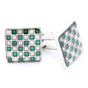 【送料無料】メンズアクセサリ― cufflinkscufflinks square green