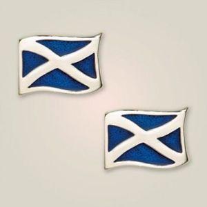 【送料無料】メンズアクセサリ― アートピューターフラグカフスボタンスコットランドart pewter saltire flag cufflinks made in scotland