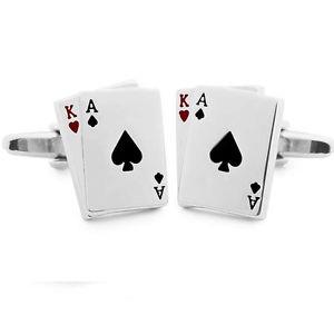 【送料無料】メンズアクセサリ― カフスリンクトランプポーカーmens cufflinks playing cards poker metal