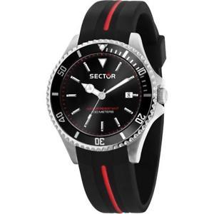 【送料無料】腕時計 ウォッチ セクタシリコーンサブメートルorologio uomo sector 230 r3251161038 silicone nero sub 100mt