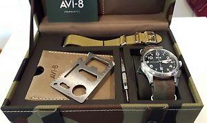 腕時計 ウォッチ avi8,set cofanetto orologio aviatore,piastrina multiuso,doppio cinturino nato
