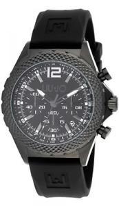 【送料無料】腕時計 ウォッチ リュージョーマンダービーブラックシリコンクロノreloj de hombre liu jo luxury derby tlj832 chrono silicona negro