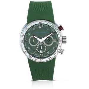 【送料無料】腕時計 ウォッチ イタリアサブクロノシリコンorologio uomo piquadro po124gr chrono silicone verde made in italy sub 50mt fiv