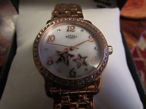 【送料無料】腕時計 ウォッチ ロータリーレディースローズゴールドメッキウォッチseoras reloj rotary sceleton chapado en oro rosa