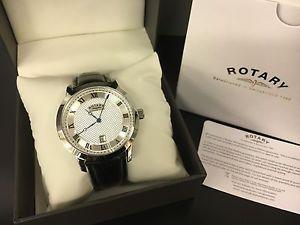 【送料無料】腕時計 ウォッチ ナイツレザーストラップアラームcaballeros reloj rotary en la correa de cuero gs4282501 pvp 75