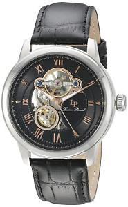 【送料無料】腕時計 ウォッチ クロックブラックutiliza lucien piccard optima para hombres reloj automtico negro cuero 1252401ra