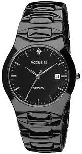【送料無料】腕時計 ウォッチ ブラックセラミックドレスアップナイツaccurist mb992s negro reloj de vestir caballeros de cermica 2 aos de garanta rrp 14900