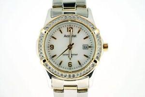 【送料無料】腕時計 ウォッチ レディーストーンクロックaccurist damas reloj de dos tonos